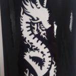Трафареты для бикини-дизайна - дракон