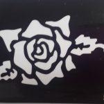 Трафареты для бикини-дизайна - роза