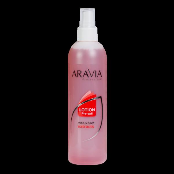 ARAVIA Professional Лосьон для подготовки кожи перед депиляцией с экстрактами мяты и березы 300мл.