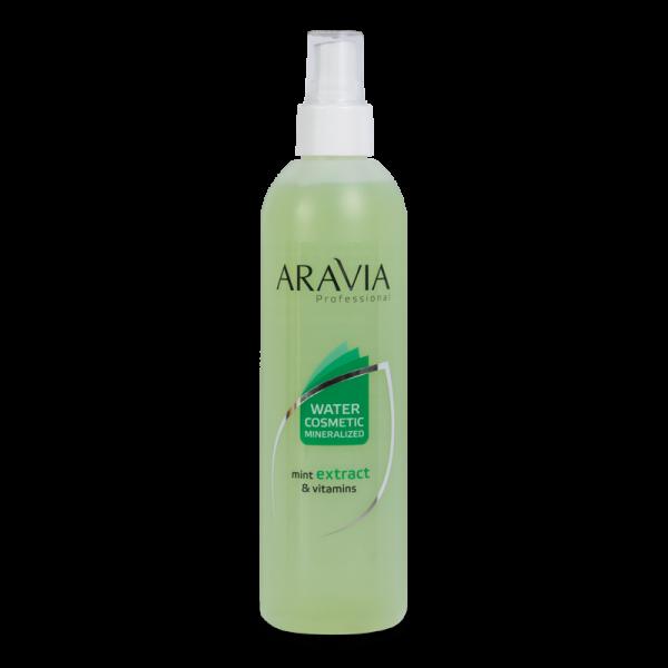 ARAVIA Professional Вода косметическая минерализованная с мятой и витаминами 300мл.