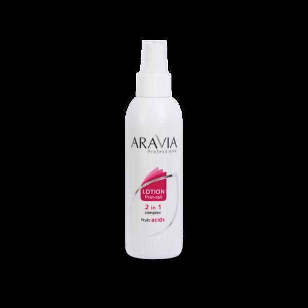 ARAVIA Professional Лосьон 2 в 1 против вросших волос и для замедления роста волос с фруктовыми кислотами 150мл.