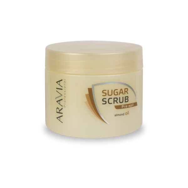 ARAVIA Professional Сахарный скраб с маслом миндаля 300мл.